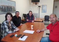 Συνάντηση της Τάνιας Ελευθεριάδου με τους εργαζόμενους στα πετρέλαια