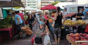 ΛΑΙΚΗ ΑΓΟΡΑ ΚΑΒΑΛΑΣ: Μην πάτε χωρίς τη μάσκα σας! (Φωτογραφίες και βίντεο)