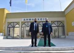 Eπίσκεψη του Υπουργού Εθνικής Αμύνης κ. Νίκου Παναγιωτόπουλου στο Δημαρχείο Νέστου