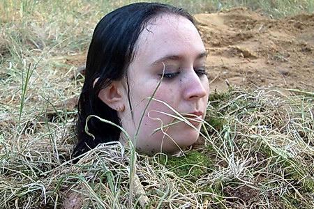 bondage buried caption