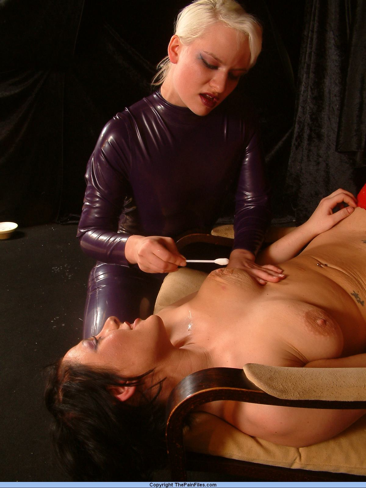 image Femdom extreme needles cbt for old dicklet male