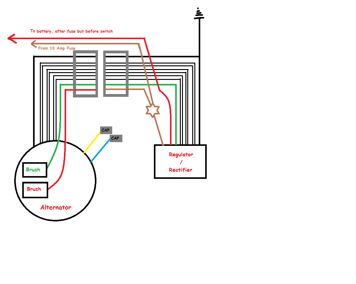 6 Wire Rectifier Wiring Diagram Electrical Diagrams Honda Crf Regulator Yamaha For 8 Work U2022