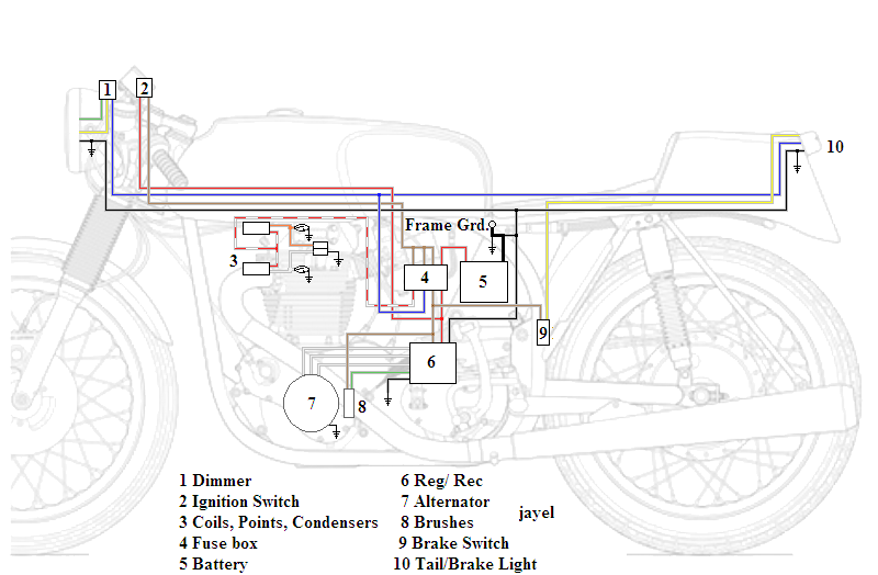 Simple Wiring Harnes | Avecdd Unix on xs650 simplified wiring, xs650 chopper wiring, xs650 1982 rectifier wiring, xs650 bobber wiring,