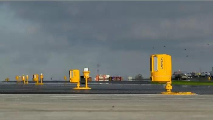 Xsight's sensors deployed along the runway at Seattle Tacoma International Airport