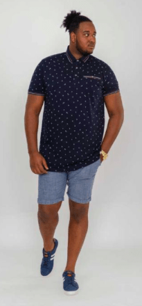 polo motif marine homme grande taille