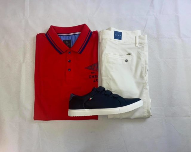 Polo rouge homme grande taille