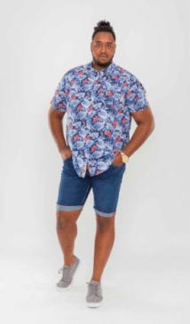 Nouvelle collection duke clothing D555short en jeans homme grande taille