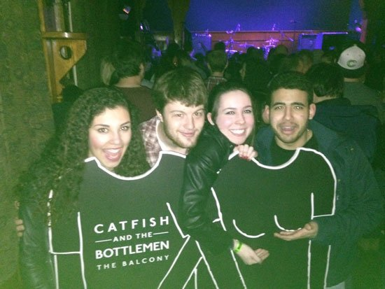 Pre-pilfering pic: the borrowers-to-be pose at Schubas