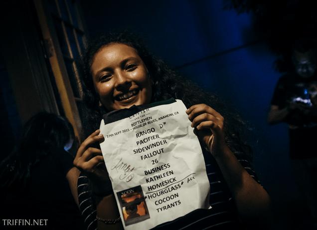 Setlist, House of Blues – Anaheim, September 27, 2015
