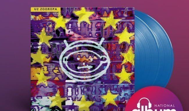 U2 Zooropa Available on blue vinyl as part of National Album Day
