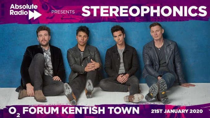 STEREOPHONICS announce a special London gig at the O2 Forum Kentish Town, hosted by Absolute Radio on 21st January