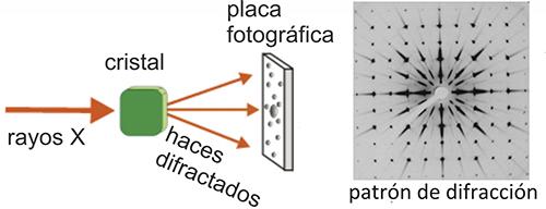 Resultado de imagen de cristalografía de rayos X