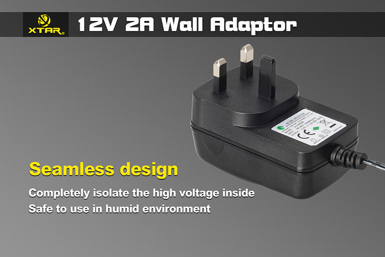 12V 2A Wall Adaptor For SP1/SP2/XP4 Chargers