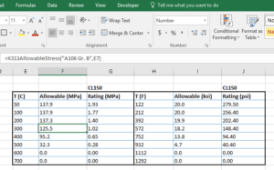 view of x313 Excel add-in put to use