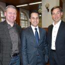 (v.l.n.r.) Michael Wischnewski (DVG Betriebsrat), Mahmut Özdemir (MdB), Sebastian Hartmann (MdB)