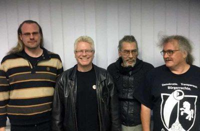 Foto: Der neue Kreisvorstand v.l.n.r.: Guido Schlüter, Hamminkeln – Andreas Schürer, Karl-Heinz Hildebrandt, Rudolf Lörcks – alle Wesel