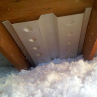 example view of proper attic ventilation - soffit
