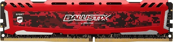 Ballistix Sport LT 4GB Single DDR4 2400
