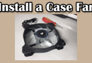 How to install a custom fan in the case?