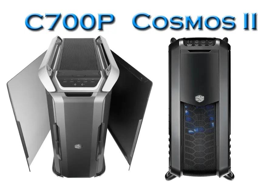 Cooler Master C700P vs Cosmos II front panels