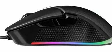 TT IRIS Optical RGB gaming mouse sideview