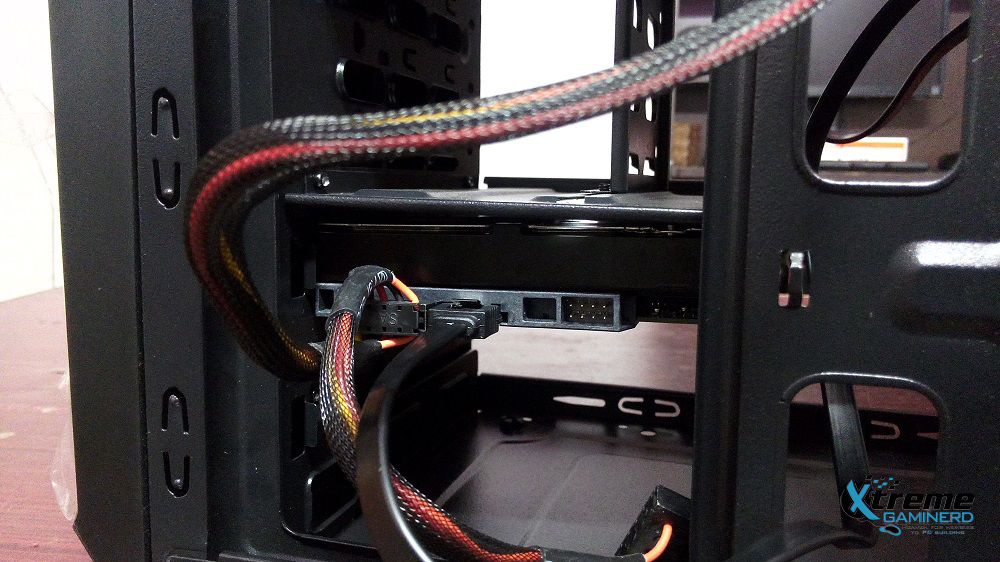 Connecting the SATA cables
