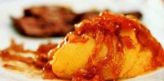 Purê de Batata doce com Cebola