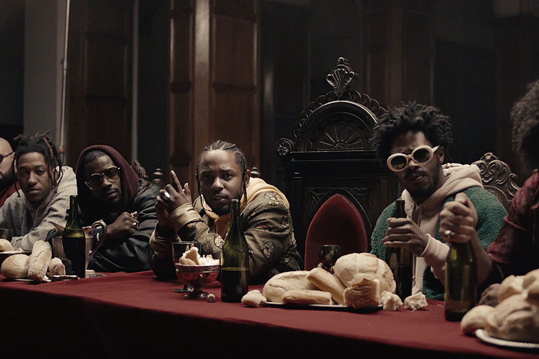 Image result for kendrick lamar humble dinner table