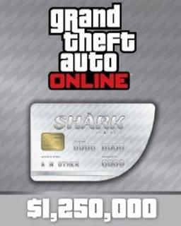 Grand Theft Auto V Online Great White Shark Cash Card 1250000 GTA 5 DIGITAL Xzonecz