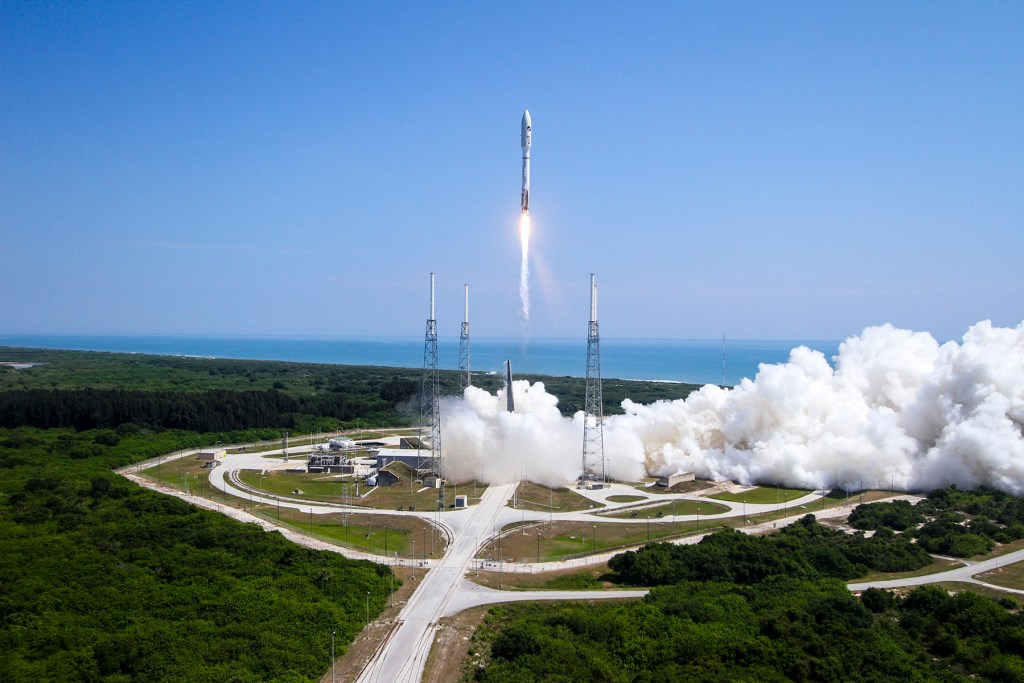The Atlas V rocket launched from Cape Canaveral Air Force Station, Florida