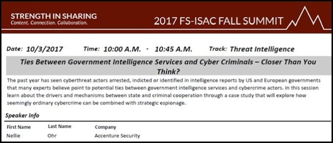 Yaacov Apelbaum - Nellie Ohr 2017 FS-ISAC Presentation
