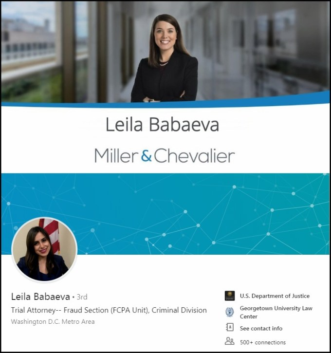 Leila Babaeva Fraud Section DOJ