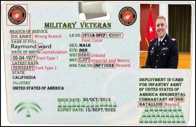 Raymond Ward Fake ID