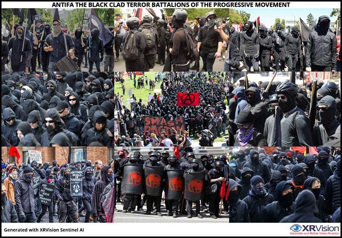 Antifa the black clad terror battalions