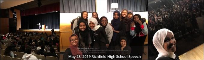 Omar May 28 Richfield High School Visit