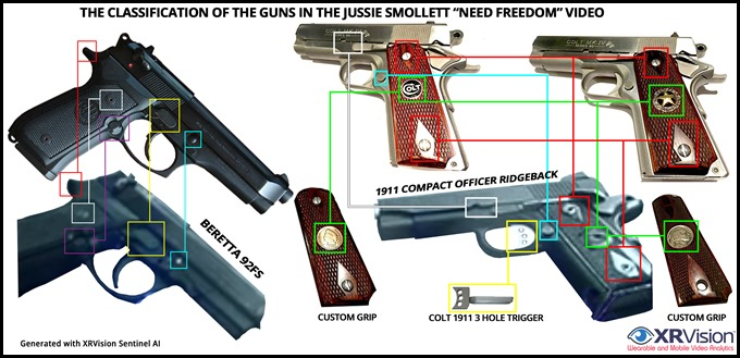 The Hand Guns from Jussie Smollett's Need Freedom Video