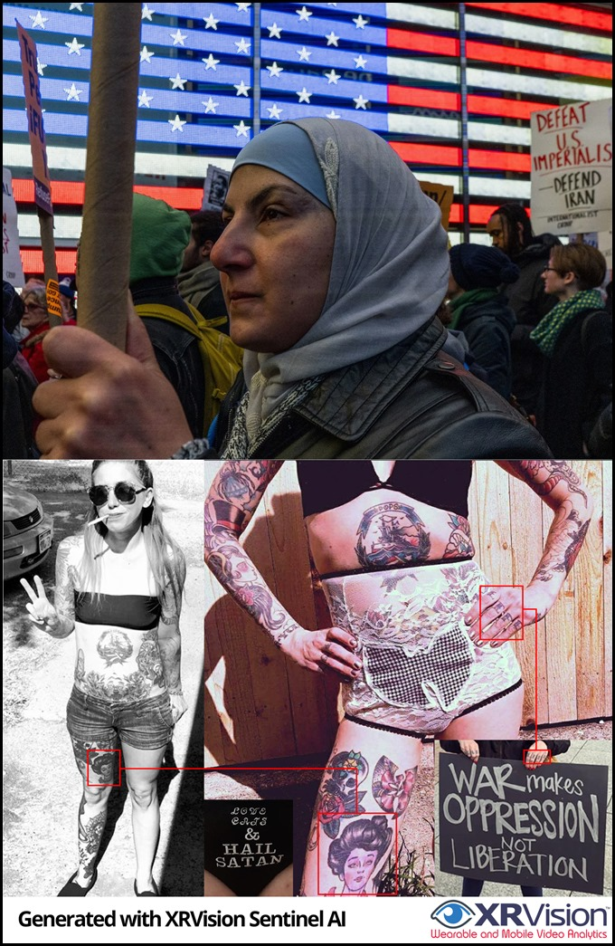 Two Pro-Iran Female Activists
