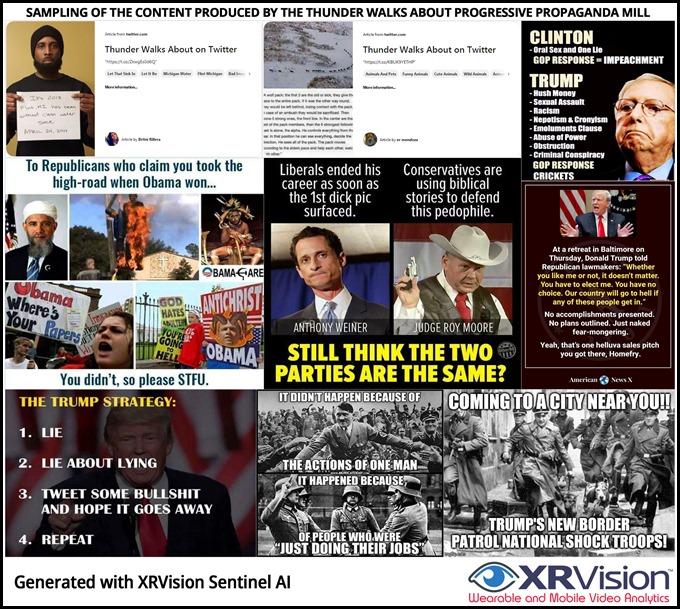 The Thunder Walks About propaganda mill