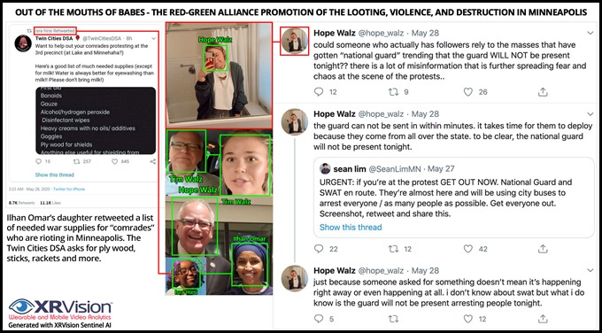 Hope Walz and Isra Hirsi Twitter Riot Support