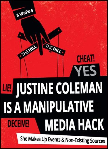 Justine Coleman is an media hack
