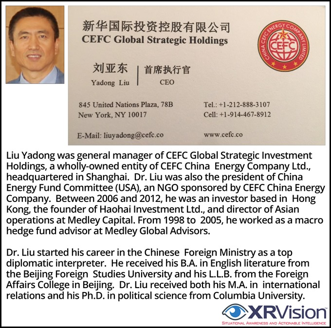 Liu Yadong Hunter's Boss at CEFC