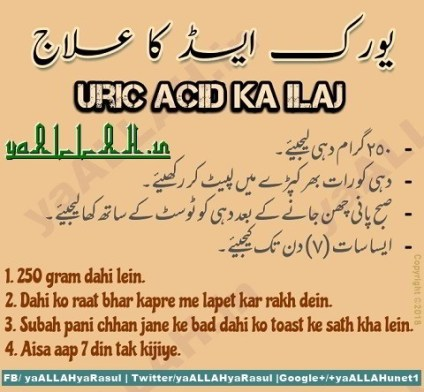Wazifa for Uric Acid ke liye dua in urdu english