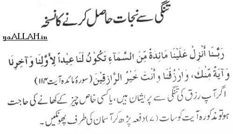 Wazifa for Financial Problems in urdu