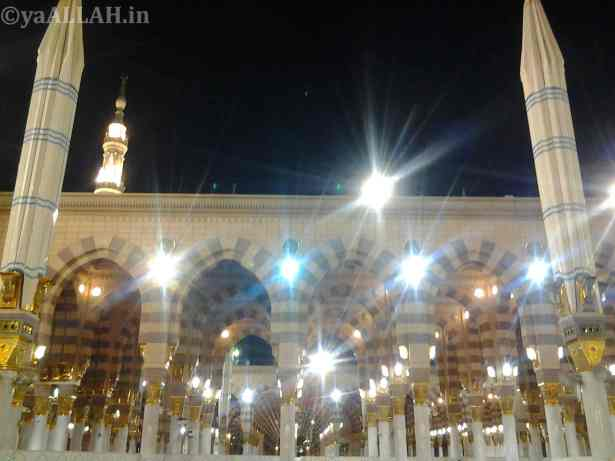 Masjid Nabawi Wallpaper At Night_yaALLAH.in_12