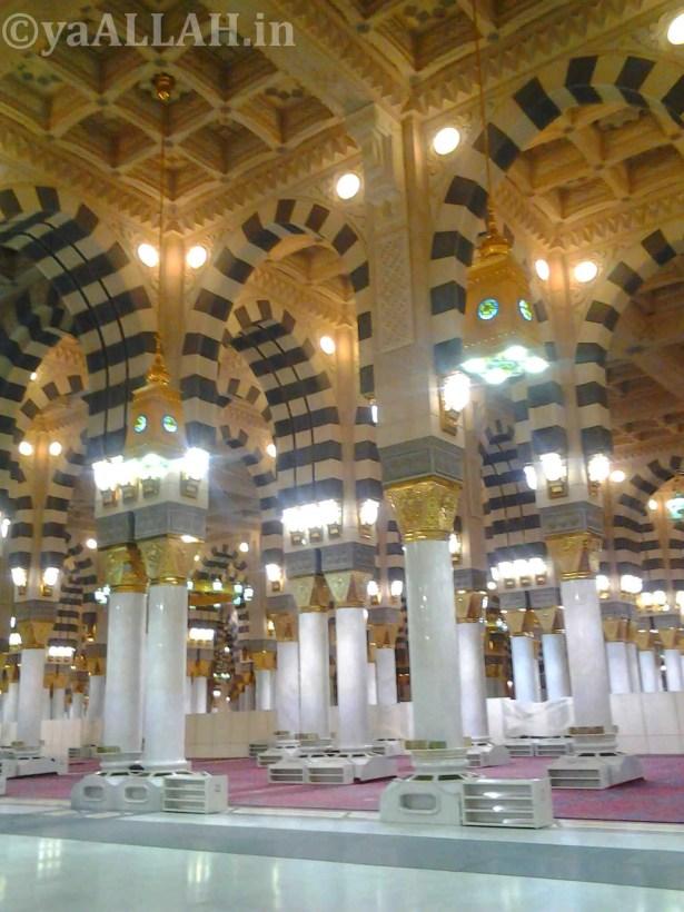 Masjid Nabawi Wallpaper At Night- yaALLAH in