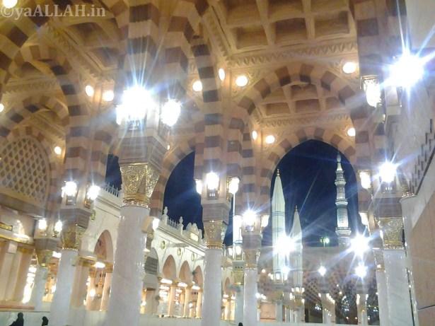 Masjid Nabawi Wallpaper At Night_yaALLAH.in_9