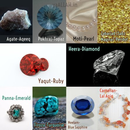 stone names in urdu and pictures
