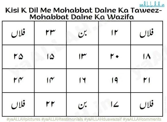 Kisi K Dil Me Mohabbat Dalne Ka Taweez-Mohabbat Dalne Ka Wazifa