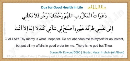 Dua for Health Recovery and Long Life