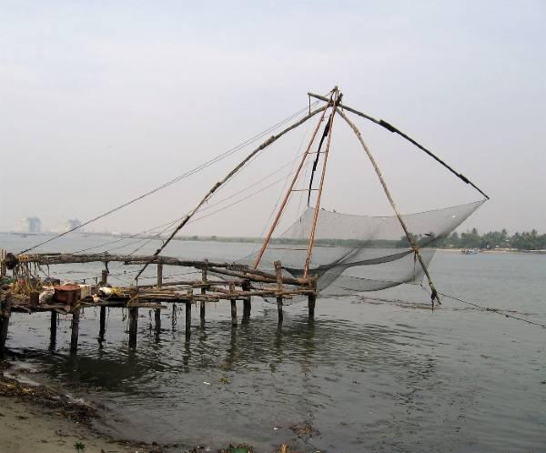 Kérala Cochin carrelets ou filets chinois au balancier